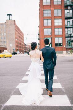 Romantic Chicago loft wedding // Anni Cee