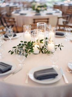 Diy Wedding Decorations For Tables Greenery - 219 diy creative rustic chic wedding centerpieces ideas Chic Wedding, Dream Wedding, Trendy Wedding, Wedding Ceremony, Simple Wedding Reception, Round Table Decor Wedding, Wedding Gowns, Wedding Venues, Wedding Rustic