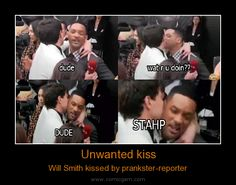 Unwanted kiss