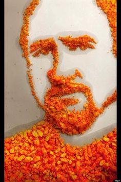 Louis C.K. cheeto art @Courtney H