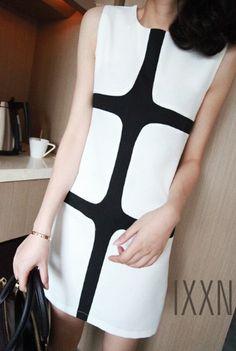 Cubic Monochrome Dress, simple.
