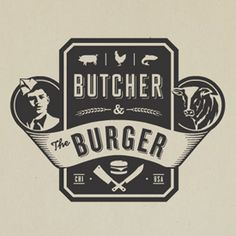 butcher & the burger logo #typography