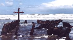 The remains of the Esito, a Brazilian steamship that wrecked off the coast of Necochea