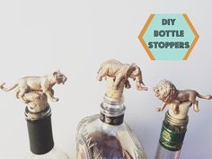 DIY // GOLD ANIMAL BOTTLE STOPPERS