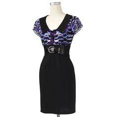 AB Studio Watercolor Mixed-Media Dress  sale $32.00