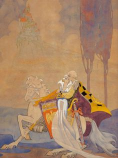 Off to the Palace, fairy tale illustration by Eugene Taylor.