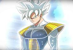Goku Ultra Instinct in Saiyan armour