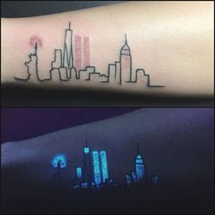 Neon Tattoos You Must Try Before Turning 30 Uv Tattoo, Uv Ink Tattoos, Neon Tattoo, Wicked Tattoos, Makeup Tattoos, Tattoo You, Cute Tattoos, Black Tattoos, Small Tattoos