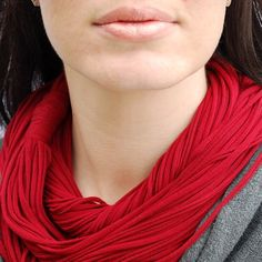 Ruby Red Luxe NeckScape Garnet scarf cowl. $42.00, via Etsy.