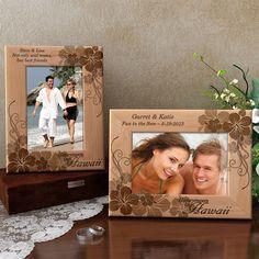 Honeymoon in Hawaii Wooden Picture Frame