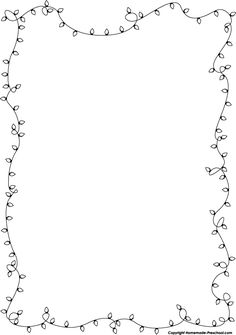 Christmas Lights Border Black And White Christmas Boarders, Free Christmas Borders, Christmas Clipart Free, Christmas Frames, Christmas Colors, Christmas Lights, White Christmas, House Colouring Pages, Coloring Pages