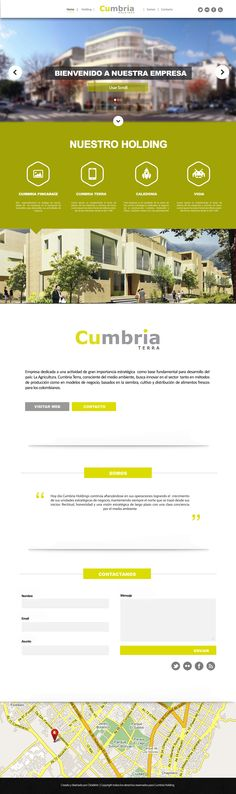 Diseño web responsive - Cubria Holding
