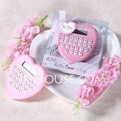 Wedding Favours - Heart Shaped Hard plastic Calculator (051017581)