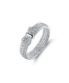 Take a look at this Cubic Zirconia & Silvertone Bow Ring today!