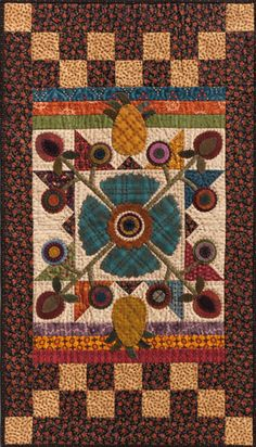 Scrappy quilt by Kim Diehl from her 2012 book, Simple Charm (Martingale Publishing)