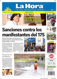 Los temas destacados: Sanciones contra los manifestantes del 17s, 'Lamentablemetnte, la familia no se escoge', Ping-pong con $30 millones y Barrios privados... de todo