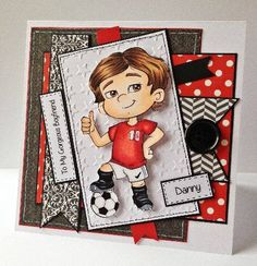 Bespoke card created by Little Megs Cards using digi image from The Paper Shelter