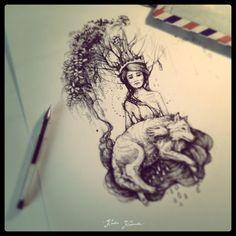 Karolina Kubikowska {Emily's Moose} tattoo and illustration: February 2014