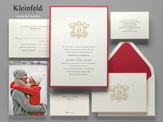 5 Invitations to Match Your Color Palette ||  Cream, Blush, and Red || Kleinfeld Paper Wedding Invitations ||  http://www.kleinfeldpaper.com/shop/Wedding-Invitations-Wedding-Heraldry-P641_1_100_A01_S01_P01