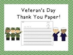 Freebie! Veteran's Day Thank You Letters!