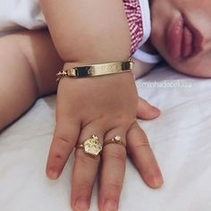 Others may find the idea of baby jewelry ridiculous. Regardless of whether you approve or disapprove of baby jewelry, there are a few things to think about before making a decision one way or another. My Baby Girl, Baby Love, Baby Girls, Kids Girls, Baby Girl Items, Lil Baby, Baby Girl Shoes, Baby Bling, Future Daughter