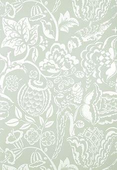 Wallcovering / Wallpaper | Uccello in Aqua | Schumacher