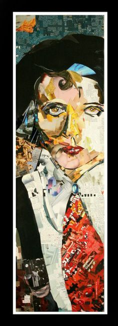 Collage on paper Title: Portrait Portrait, Collage, Painting, Wall Art, Anime, Industrial, Paper, Photos, Collages