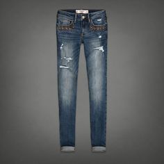 Shine Detail Skinny Jeans | Abercrombie.com | Check out our Pin To Win Challenge at http://on.fb.me/UfLuQd