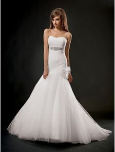 Mermaid Sweetheart Cathedral Train Lace and Tulle Bridal Gown