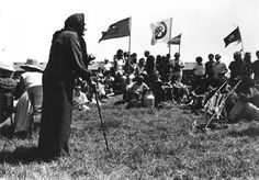 Dame Whina Cooper Speaking at the Lower Marae, Waitangi, 1985