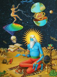 """""""What you contemplate, you touch. What you enter into in. Psychedelic Experience, Psychedelic Art, Tarot, Terence Mckenna, Sacred Plant, Satanic Art, Spiritual Images, Esoteric Art, Surrealism Painting"""