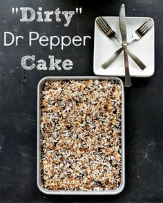 """Dirty"" Dr Pepper Cake - Chocolate Dr Pepper Cake made even better with the delicious addition of coconut."