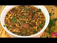 Southern Cajun Black Eyed Peas Recipe   Black Eyed Peas Recipe   Hoppin John - YouTube Pea Recipes, Cajun Recipes, Vegetable Recipes, Cooking Recipes, Healthy Recipes, Cajun Food, Healthy Food, Yellow Rice Recipes, Rice Side Dishes