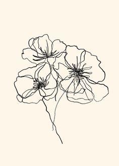 Line Art Tattoos, Mini Tattoos, Tatoos, Dainty Tattoos, Small Tattoos, Pretty Tattoos, Art Abstrait Ligne, Line Art Flowers, Bouquet Of Flowers Drawing