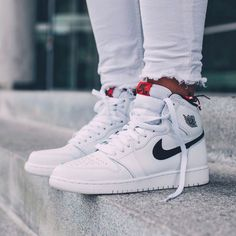 d097b2713c3d NIKE Women s Shoes - NIKE Air Jordan 1 Retro High OG White x Black x Touch  of Red - Find deals and best selling products for Nike Shoes for Women