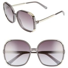 0c480f837593 Women s Chloe Myrte 61Mm Gradient Lens Square Sunglasses (1