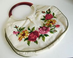 Vintage+Embroidered+Purse+Handmade+Flowered+Pink+by+CalloohCallay,+$26.00