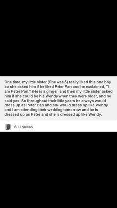 If this is real it's as cute as the Disney employee Peter and Wendy getting married. <3<3