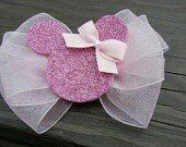Items similar to Pink Sheer Disney Minnie Mouse Hair bow/ Hairbow on Etsy Ribbon Crafts, Ribbon Bows, Felt Crafts, Ribbon Flower, Ribbon Hair, Girl Hair Bows, Girls Bows, Disney Hair Bows, Barrettes