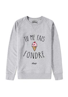Sweat Licorne - Sweat Shirt - Ideas of Sweat Shirt - Sweat Licorne Plus Sweat Original, Sweat Quotes, Le Fabuleux Shaman, Mode Outfits, Fashion Outfits, T Shorts, Look Girl, Cute Sweaters, Sweat Shirt