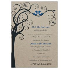 Rustic Wedding Stationary, in Dazzling Blue and Paloma, £1.60, #weddinginvitation