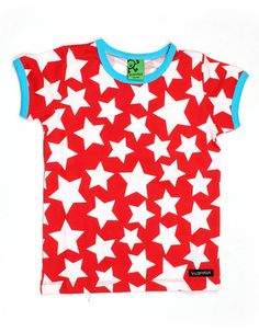 Red t-shirt with star print - Villervalla