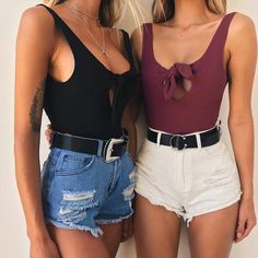 WYHHCJ 2018 sexy backless women bodysuit off shoulder v-neck bow casual summer jumpsuit skinny solid hole female playsuit romper. Teen Fashion, Fashion Outfits, Womens Fashion, Fashion Trends, Fashion Shorts, Fashion Hacks, Classic Fashion, Vintage Fashion, Fashion Tips