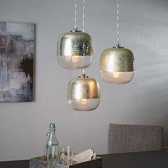 Metallic Honeycomb Chandelier - 3-Light #westelm