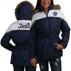 Montreal Canadiens Ladies Polyfill Full Zip Jacket with Fur-Lined Hood -  Royal Blue Rangers 40e6d1c2b