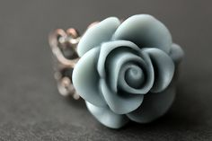 Etsy listing at https://www.etsy.com/listing/156096426/gray-blue-rose-ring-blue-grey-flower