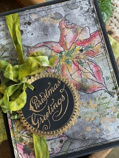 Tim Holtz, Christmas Cards, Winter Christmas, Xmas, Holiday, Seasons, Poinsettia Cards, Ranger Ink, Winter Cards