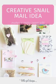 Here's an idea for creative snail mail that is simple and beautiful. Dress up the way you send old-fashioned packages in the mail! :)