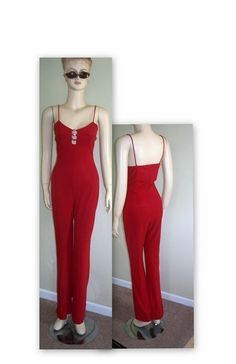 VINTage red body con sexy summer jumpsuit by MrIdahosVintage, $19.00