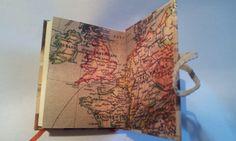 CAPRICHO. Libro de aventuras. Detalle de las guardas. Encuadernación artesanal en Taller 35